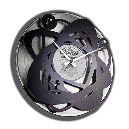 Disc O 'Clock Wanduhr Vinyl Atomium, grau
