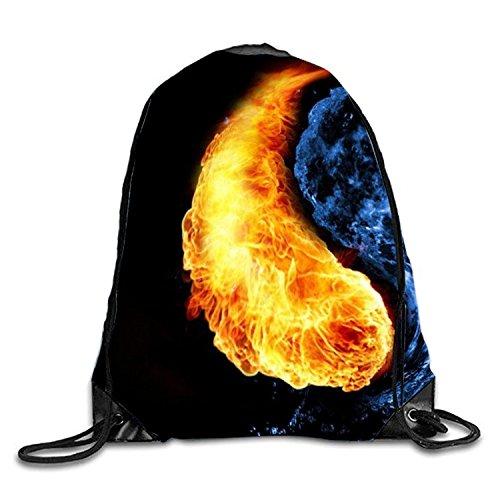 Kordelzug Cinch Tasche (phjyjyeu Tasche mit Kordelzug I Should Sackpack Reise Cinch Tote Kinder Erwachsene Aufbewahrungstaschen M cool fire9)