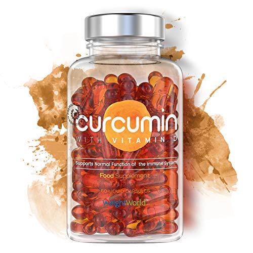 Curcumina con Vitamina D - Curcuma Micellare 185x Biodisponibile - Novasol Curcumin Alto Dosaggio - Integratore Antinfiammatorio E Antiossidante Naturale - Articolazioni E Cartilagine - WeightWorld
