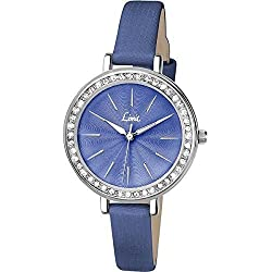 Limit Bella Stone Set Blue Dial Blue Strap Ladies Watch 6082