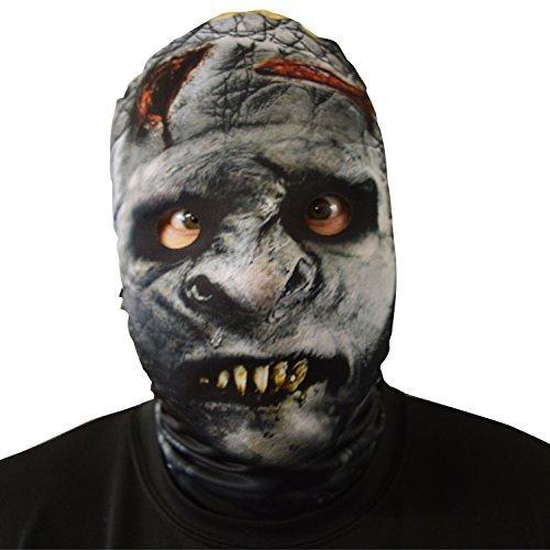 Orc Maske - gruselig Halloween Gesichtsmaske Schlacht beschädigt Orc