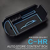 LFOTPP C-HR NGX50 ZYX10 Scatola del Bracciolo Central Armrest Box Storage Box Blu