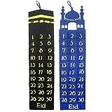 By Robelli Handgefertigt Filz Ramadan / Eid Wandbehang Countdown Kalender (Both Designs - 1 x Blau+1 x Schwarz)