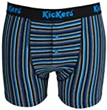 Mens 1 Pair Kickers Striped Cotton Button Fly Boxers