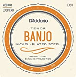 D\'Addario EJ63 Cordes pour Banjo Light Tenor 09-30