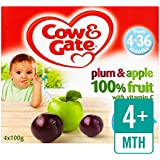 Cow & Gate Plum & Apple Fruit Pots 4 x 100g