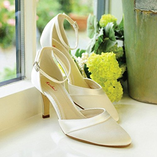 Elsa Coloured Shoes, Scarpe con cinturino alla caviglia donna Bianco