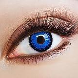 aricona Farblinsen Farbige Kontaktlinse Côte d'Azur   – Deckende Jahreslinsen für dunkle und helle Augenfarben ohne Stärke, Farblinsen für Karneval, Fasching, Motto-Partys und Halloween Kostüme