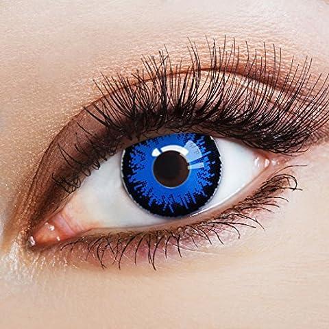 Couleur des lentilles de contact Côte d'Azur de aricona – années couvrant la lentille à terme pour les yeux sombres et claires- sans correction- les lentilles colorées pour le carnaval- des soirées à thème et des costumes d'Halloween