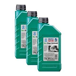 3x LIQUI MOLY 1280 Bio Säge-Kettenöl Pflanzliche Basis KWF geprüft 1L