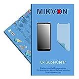6x Mikvon SuperClear Displayschutzfolie f