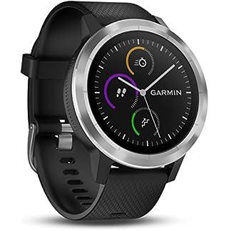 Garmin Vivoactive 3 – Smartwatch con GPS y Pulso en la muñeca, Negro/Plata, M/L (Reacondicionado)