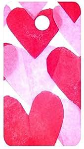 Pink Hearts Back Cover Case for Motorola Moto E