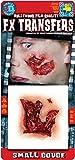 Rasta Imposta Offene Fleischwunde 3D Klebe-Tattoo Halloween Haut-rot 12,7x11,4cm Einheitsgröße