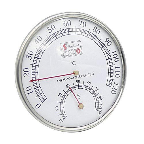 XZANTE Sauna Thermometer Metall GEH?use Dampf Sauna Raum Thermometer Hygrometer Bad und Sauna Indoor Au?en Verwendet