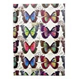 A6 Casebound Quality Notebook - Colourful Butterflies Design - 120 Pages - Ruled - Size - 5.8 X 4.1