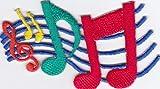 Ecusson brodé Ecussons Imprimés Ecussons Thermocollants iron-on Patch Multicolore feuillet de musique Clé Note Musique Composer -a5x1