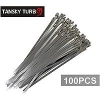 100x Scarico In Acciaio Inox Fascette Wrap metallo Tie extra lunga e ampia grande tk-zs100
