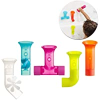 TOMY Boon Pipes Baby Bath Toy | Bath Accessories for Babies & Toddlers | 5 Multicoloured Water Pipes For Bath Time…