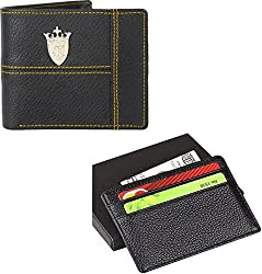 Styler King Men Black Artificial Leather Wallet��(13 Card Slots)