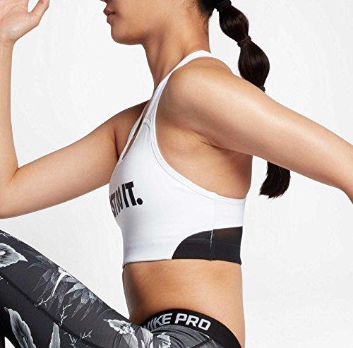 Nike Pro Clssc swsh Cooling BR Reggiseno sportivo, donna Bianco/nero (White/Black/Black/Black)