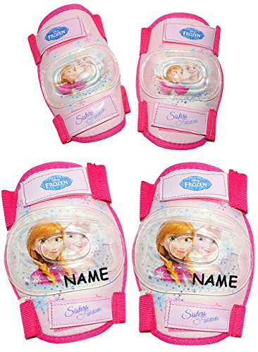 frozen inliner alles-meine.de GmbH 4 TLG. Set:  Disney Frozen - die Eiskönigin  - Knieschützer + Ellenbogenschützer - incl. Name - für Circa 5 bis 12 Jahre - für Kinder - Gelenkschützer Knies..