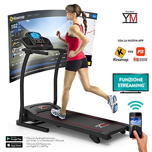 Cinta correr, eléctrica, plegable sensor cardíaco