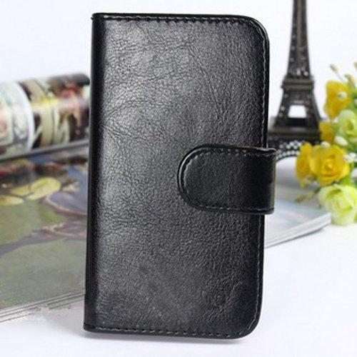 Prevoa ® 丨Funda Cubierta del caso del tirón de protección para el W100 de ThL W100S Smartphone-Color negro,...