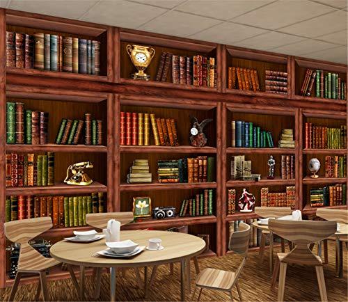 3D Wohnzimmer Bücherregal Bücherregal Hintergrund Wandgemälde, 350Cm X 245Cm (Abstract Bücherregal)