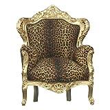Casa Padrino Sessel Barock 'King' Leopard/Gold