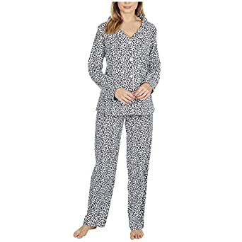 Forever Dreaming Ladies 100% Brushed Cotton Pyjamas Leopard Print Size Small