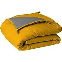 Sleepyhead Reversible Microfiber Comforter, Chrome Yellow & Ash Grey - Double Size, 220 GSM