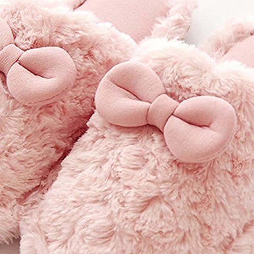 Eastlion delle donne e dei bambini inverno bella tenere in caldo anti-Skid peluche casa Scarpe Indoor, Sippers Colore 5