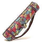 BAGTECH Borsa Yoga, borsa per tappetino da yoga con multi tasche portaoggetti (rosso)