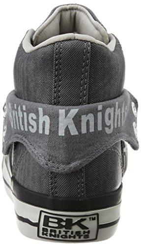 British Knights ROCO HERREN HIGH-TOP-SCHUH SNEAKER dunkelgrau - weiß