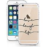 licaso® iPhone 6TPU móvil Disney Case Transparente Clara Funda Móvil iPhone6Funda Phone Case, TPU, Love Laugh Life, iPhone 6 6S
