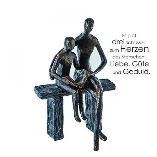 Casablanca - Skulptur/Dekofigur / Figur - Teaching - Polyresin - Farbe: Bronze