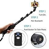 #9: Royallite Bluetooth Remote Selfie Stick for Smartphones/Action Camera/Digital Camera/DSLR Cameras/Apple/Android/All Mobile Phones/All Cameras-(Black).