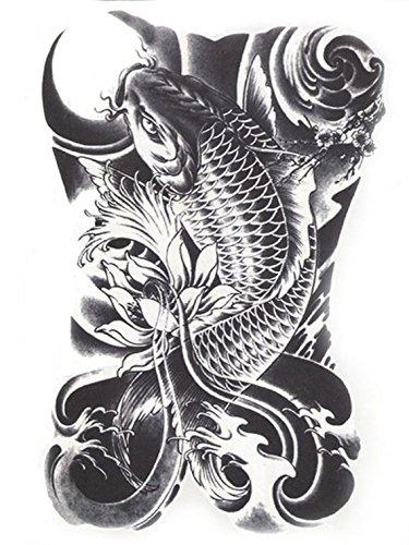 Hb-090 - flash tattoo in bianco e nero adesivo temporanei temporaneo corpo stickers gotik gotico orientale esotico tattoo adesivo foglio black and white oriente per - uomo