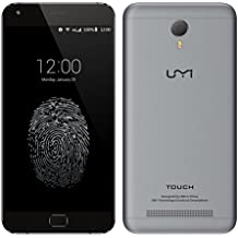 "UMI Touch 2016 Nueva 4G LTE FDD Smartphone 5.5 ""MTK6753 Octa Core Android 6.0 OS FHD Touch ID 13 MP + 5MP cámara dual (gris)"