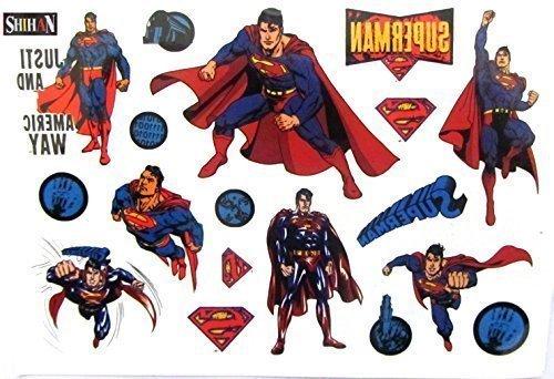 Tattoos SHIHAN-'Superman' Tattoos Film Superhelden Union Kinder Flasche Tätowierung Sticker Wasserfest Entfernbar Tatoo Für Kinder