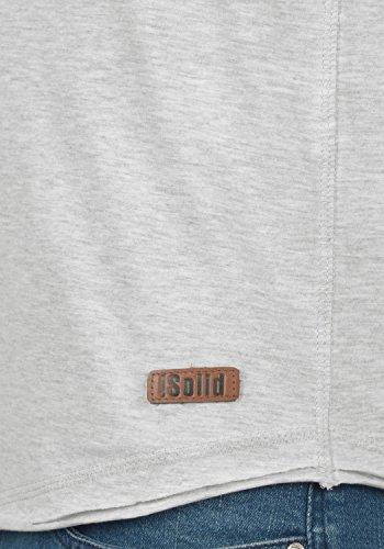!Solid Tao Herren T-Shirt Kurzarm Rundhalsausschnitt Aus Hochwertiger Baumwollmischung Meliert Oyster Grey (8215)