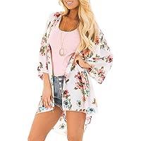 YONHEE Cardigan di Chiffon Donna - Estivo Copricostume de Mare Kimono Donna Copricostume Mare Estivo da Donna Spiaggia…