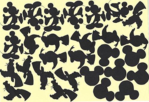 Mickey und Freunde, Goofy Donald Vinyl Aufkleber Aufkleber (schwarz)