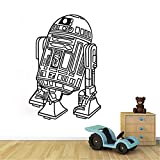 Art Design Star Wars Robot Sticker Mural Citation R2 D2 Sticker Vinyle Décor À La Maison Enfants Geek Gamer Amovible Mural Chambre Papier Peint