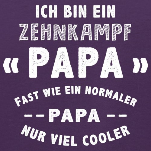 Ich bin ein Zehnkampf Papa - Herren T-Shirt - 13 Farben Lila