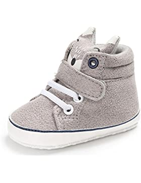 FNKDOR Baby Mädchen Jungen Fuchs Lauflernschuhe Rutschfest Canvas Schuhe Stiefel