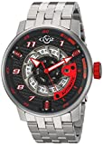 GV2 by Gevril Men's Analogue Automatic-self-Wind Watch with Stainless-Steel Strap 1300B