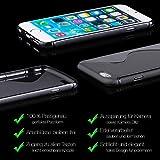 Samsung Galaxy S4 MINI | iCues S-Line Black Case Schwarz | [Display Schutzfolie Inklusive] Silikon Gel Schutzhülle Hülle Cover Schutz