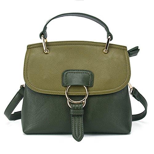 VANCOO 2017 neue Welle Paket Leder Vintage Handtasche Designer Tasche Messenger Tasche Damen Handtasche Geldb?rse Tote Satchel f¨¹r Frauen 9098 Gr¨¹n